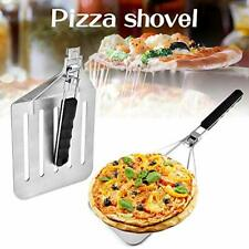 New listing Pizza Peel With Rubber Foldable Handle Stainless Steel Collapsible Cake Transfer
