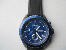 Fossil chronograph men's Black rubber band quartz & battery Analog watch.Ch-2784