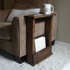 Solid Wood Narrow Side Table with Storage - Various Sizes & Colours Available