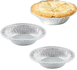 100x Foil Dishes Steak Pie Small Custards Round Pies Fruit Cases Individual Meat