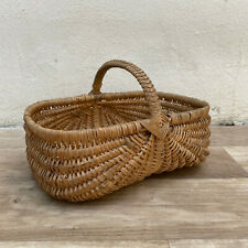 French Wicker Basket market fruits Chic Vintage Woven Rattan 0708209