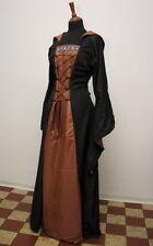 Mittelalter Kleid Schwarz Kupfer Fasching Karneval Gothic LARP Halloween 38-42