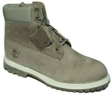 """Womens Ladies Timberland 6"""" 6 Inch Grey Boots Shoes Lace Up Leather Size UK 8 W"""