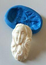 Nature HORSE Spirit Goddess Silicone Mould 56 mm PMC Resin Fondant Sugarpaste