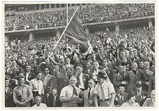 WWII GERMAN Large 1936 OLYMPIC Sports Photo Image- Italian Unformed Spectators