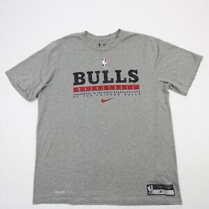 Chicago Bulls Nike NBA Authentics Short Sleeve Shirt Men's Gray Used