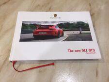 """Porsche 911 GT3 """"NUEVO"""" 2017 Tapa Dura folleto 'nació en flacht'"""
