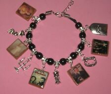 """ DARK SHADOWS-19​91 REVIVAL""-SLIDER CHARM BRACELET - HAND MADE-TIBETAN SILVER"