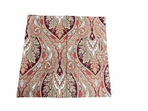 "Pottery Barn Red Anton Paisley 26"" x 26"" Cotton Euro Sham Pillow Cover"