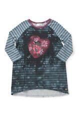 Matilda Jane RIG IT UP TEE 8 Girls Baseball Heart Stripes Make Believe NWT
