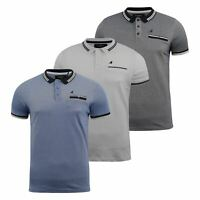 Mens Polo Shirt kangol Short Sleeve T-Shirt Top Rumi