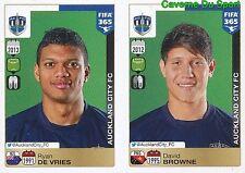 697-698 RYAN DE VRIES DAVID BROWNE AUCKLAND CITY FC FIFA 365 PANINI