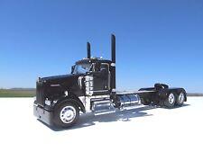 DCP 1/64 SCALE W900 KENWORTH DAY CAB  BLACK LONG WHEEL BASE W CUSTOM DECK PLATE