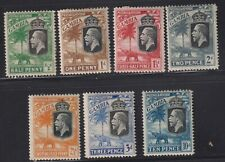 GAMBIA 1922-9 Sel.to 10d-mint hinged