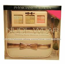 PHYSICIANS FORMULA* 3pc Nude Wear GLOWING MAKEUP COLLECTION Case+Compact+Brush
