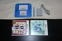 Blue Nintendo 2DS Mario Kart 7 Edition w/ Charger & Extra 2 Games - TESTED