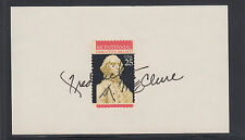 Frederick D. McClure, Assistant to President Reagan, signed 3x5 card & stamp