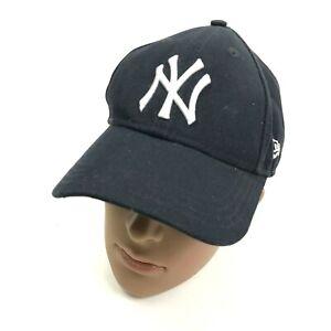 VINTAGE New Era New York Yankees Cap Hat Youth One Size Blue Strapback Baseball