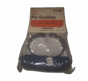 "Dritz Wrist Pin Cushion Vintage 1970's-1980's ""Keeps Pins Handy"""