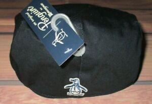 MENS ORIGINAL PENGUIN NAVY BLUE CABBIE NEWSBOY HAT CAP ONE SIZE