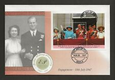 1997 ZAMBIA GOLDEN WEDDING ANNIVERSARY MINIATURE SHEET FDC