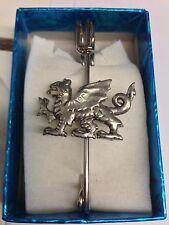 """Welsh Dragon PP-G51 Pewter Emblem Kilt Pin Scarf or Brooch 3"""" 7.5 cm"""
