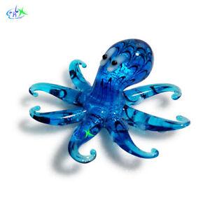 Octopus Aquarium Decorations Ornament Fish Tank Glass Landscape Crystal Decor