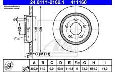 ATE Juego de 2 discos freno 280mm para MAZDA 3 YAMAHA MOTORCYCLES XTZ