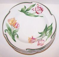 """SET OF 6 CHRISTIAN DIOR PROVENCE COLLECTION NORMANDIE 8 1/2"""" RIMMED SOUP BOWLS"""