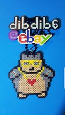 Gangster Snorlax kandi perler necklace PLUR EDC pokemon go hama art pixel sprite