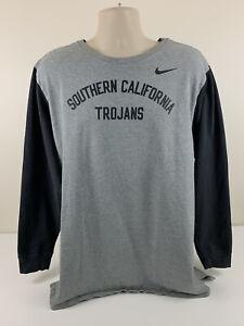 Nike University Southern California Trojans USC Grey Sweater Mens Size XXL EUC