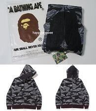 A BATHING APE Men's TIGER CAMO TIGER FULL ZIP HOODIE Black S-XL/XXL Japan New