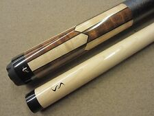 Universal Pool Cue Natural & Stained Maple Inlays UN115-5 w/ FREE Extras