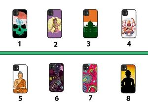 India Rubber Phone Case Cover Indian Flag Buddha Buddhas Pattern Tribal 8034A