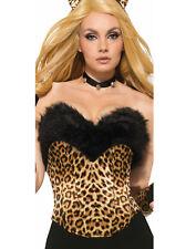 Leopard Zip Up Jumpsuit Womens Adult Wild Cat Halloween Costume-Std