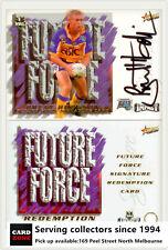 2001 Select NRL Impact Future Force Signature Card FF6 Brett hodgson-Eels