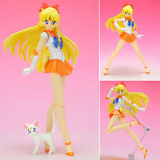 Anime Sailor Moon Pretty Guardian Action Figures Toy Venus Figurine Collection