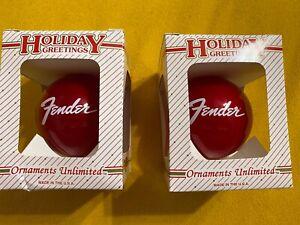 Fender Guitar Christmas Ornament (Set)