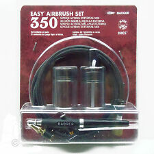 BADGER 350 EASY AIRBRUSH, BRAIDED HOSE, 2 JARS, JAR ADAPTOR