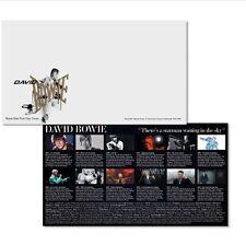 DAVID BOWIE LTD ROYAL MAIL FIRST DAY COVER ENVELOPE, ALADDIN SANE STAMP & CARD