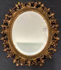 Antique Bronze Oval Rococo Wall Mirror Picture Photo Frame