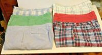 Lot Of 6 Mens Golf Casual Shorts Chaps Pro Tour Saddlebred Solid Plaid Size 38