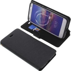 Custodia Per Alcatel U5 HD Book-Style Protettiva Cellulare a Libro Nero