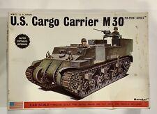 Vintage Bandai 1/48 Scale  U.S. WW2 CARGO CARRIER M30 Kit #8290 Complete Kit 🔥