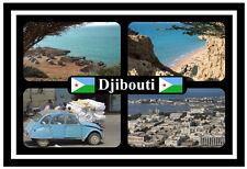 DJIBOUTI, AFRICA - SOUVENIR NOVELTY FRIDGE MAGNET - FLAGS / SIGHTS - NEW / GIFT