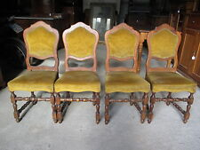 Quattro sedie stile Luigi XIII in noce - epoca primi 900  - rocchetto  stile 600