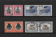 1941 King George VI SG151 to SG154 Surcharged pairs Fine Used  KUT