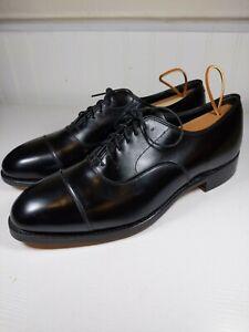 Johnston & Murphy Crown Aristocraft Black Calf Skin Cap Toe Shoes Size 9 D