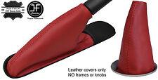DARK RED TOP GRAIN LEATHER GEAR & HANDBRAKE BOOT FOR BMW MINI COOPER R55 R56 R57
