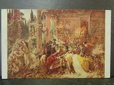 cpa illustrateur fantaisie reproduction tableau makowsky la mort de petrone